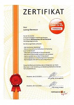 Zertifikat Marketing